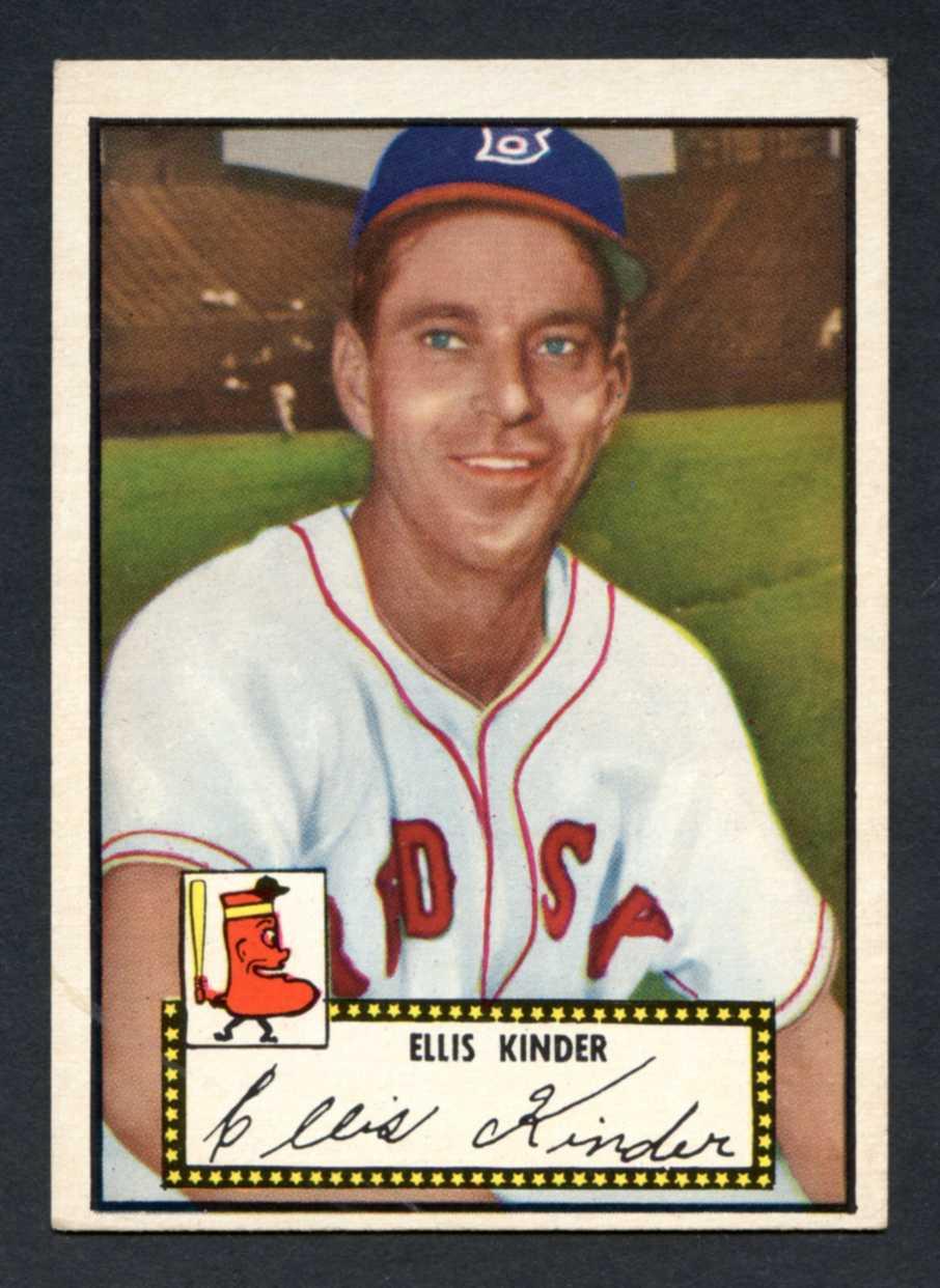 1952 Topps Baseball 078a Ellis Kinder Black Back Boston Braves EX