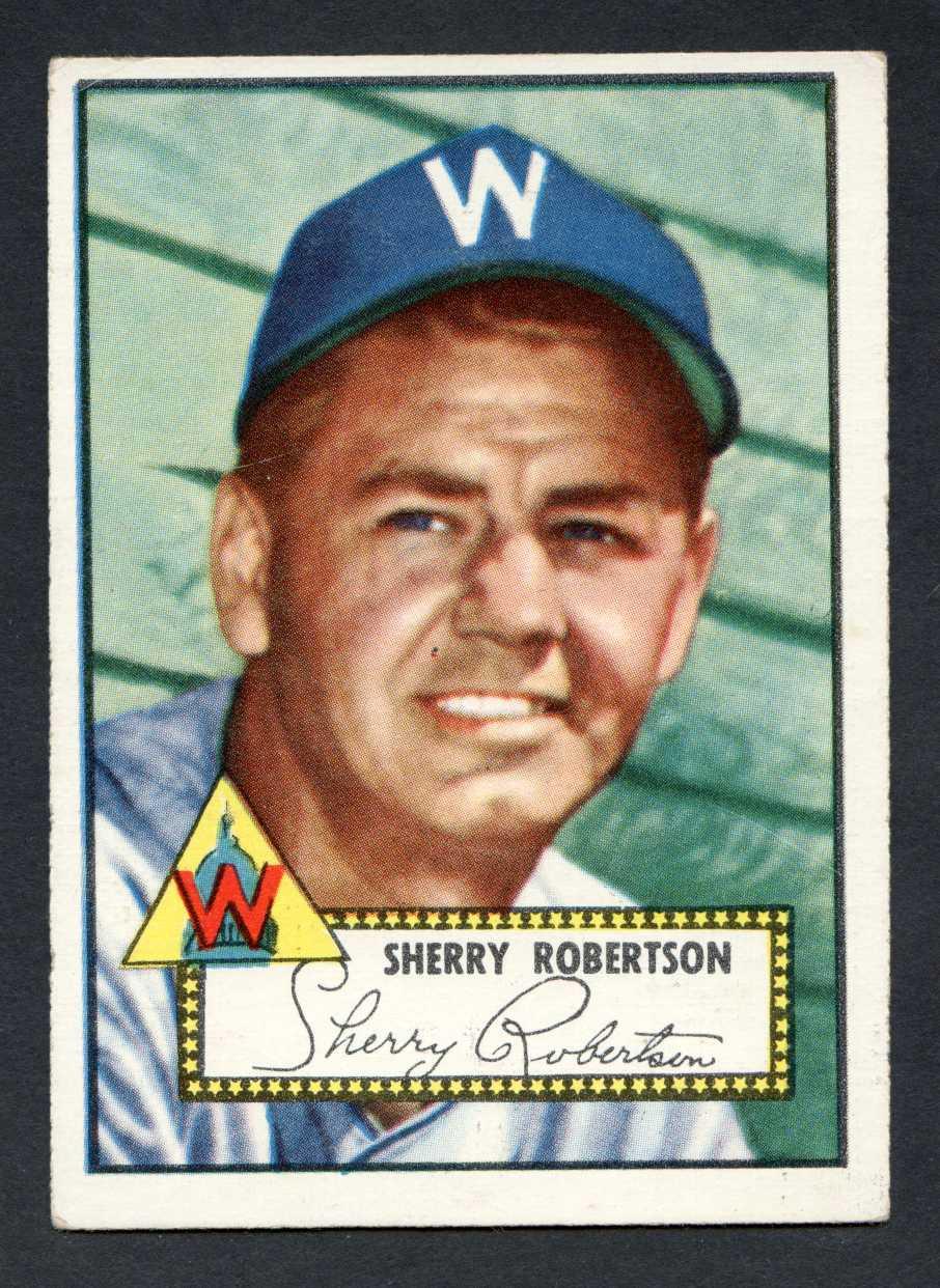 1952 Topps Baseball 245 Sherry Robertson Washington Senators Vg