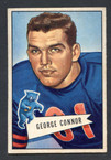 1952 Bowman Small Football # 019  George Connor Chicago Bears VG-1