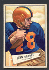 1952 Bowman Small Football # 024  John Karras Chicago Cardinals EX