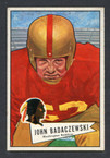 1952 Bowman Small Football # 112  John Badaczewski Washington Redskins EX