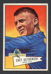 1952 Bowman Small Football # 124  Chet Ostrowski Washington Redskins EX