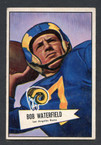 1952 Bowman Small Football # 137  Bob Waterfield Los Angeles Rams EX