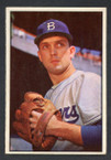 1953 Bowman Color Baseball # 012  Carl Erskine Brooklyn Dodgers EX