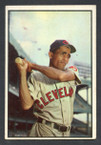 1953 Bowman Color Baseball # 086  Harry Simpson Cleveland Indians G