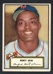1952 Topps Baseball # 026a Monty Irvin Black Back New York Giants VG