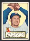 1952 Topps Baseball # 043a Ray Scarborough Black Back Boston Braves EX