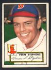 1952 Topps Baseball # 084 Vern Stephens Boston Braves EX-1