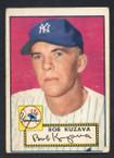1952 Topps Baseball # 085 Bob Kuzava New York Yankees VG