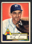 1952 Topps Baseball # 090 Mickey Grasso Washington Senators VG-3
