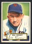 1952 Topps Baseball # 125 Bill Rigney New York Giants EX