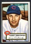 1952 Topps Baseball # 142 Harry Perkowski Cincinnati Reds VG-3