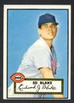 1952 Topps Baseball # 144 Ed Blake Cincinnati Reds VG-2