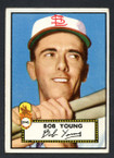 1952 Topps Baseball # 147 Bob Young St. Louis Browns VG
