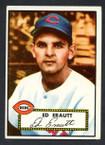 1952 Topps Baseball # 171 Ed Erautt Cincinnati Reds VG