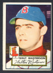 1952 Topps Baseball # 186 Walt Masterson Boston Braves VG