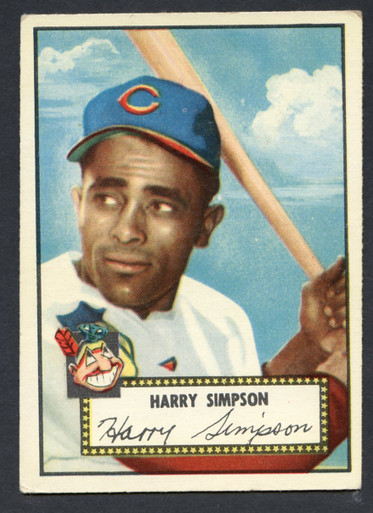 1952 Topps Baseball 193 Harry Simpson Cleveland Indians Ex 1
