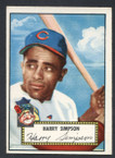 1952 Topps Baseball # 193 Harry Simpson Cleveland Indians EX-2
