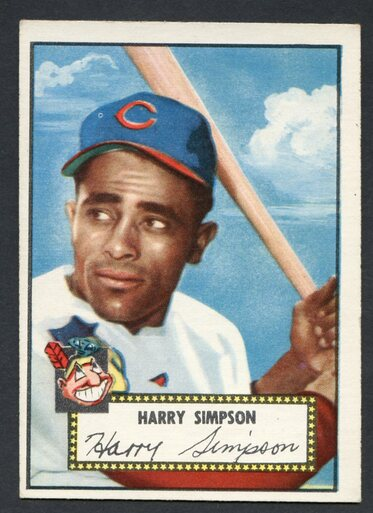 1952 Topps Baseball 193 Harry Simpson Cleveland Indians Ex 2