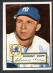 1952 Topps Baseball # 214 Johnny Hopp New York Yankees VG