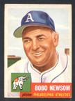1953 Topps Baseball # 015  Bobo Newsom Philadelphia Athletics EX