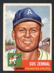 1953 Topps Baseball # 042  Gus Zernial Philadelphia Athletics EX