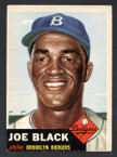 1953 Topps Baseball # 081  Joe Black Brooklyn Dodgers EX