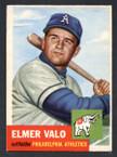 1953 Topps Baseball # 122  Elmer Valo Philadelphia Athletics EX
