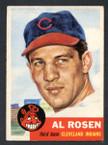 1953 Topps Baseball # 135  Al Rosen Cleveland Indians EX