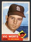 1953 Topps Baseball # 142  Vic Wertz St. Louis Browns EX