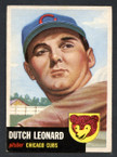 1953 Topps Baseball # 155  Dutch Leonard Chicago Cubs EX-3