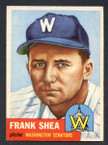 1953 Topps Baseball # 164  Frank Shea Washington Senators EX/MT