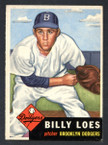 1953 Topps Baseball # 174  Billy Loes Brooklyn Dodgers EX-1