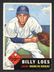 1953 Topps Baseball # 174  Billy Loes Brooklyn Dodgers EX-2