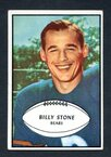1953 Bowman Football # 029  Billy Stone Chicago Bears EX