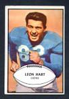 1953 Bowman Football # 031  Leon Hart Detroit Lions VG
