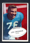 1953 Bowman Football # 034  Lou Creekmur Detroit Lions VG