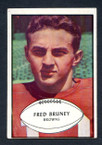 1953 Bowman Football # 049  Fred Bruney San Francisco 49ers VG
