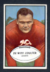 1953 Bowman Football # 064  Tex Coulter New York Giants EX