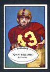 1953 Bowman Football # 087  John Williams Washington Redskins EX