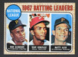 1968 Topps Baseball # 001  NL Batting Leaders Clemente, Gonzalez and Alou EX-2