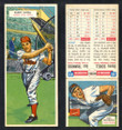 1955 Topps Double Header Baseball # 081 Danny Schell Phillies & # 82 Gus Triandos Orioles EX