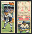 1955 Topps Double Header Baseball # 053 Billy Herman Dodgers & # 54 Sandy Amoros Dodgers G-2