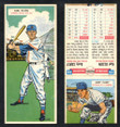 1955 Topps Double Header Baseball # 035 Karl Olson Red Sox & # 35 Andy Carey Yankees EX-2