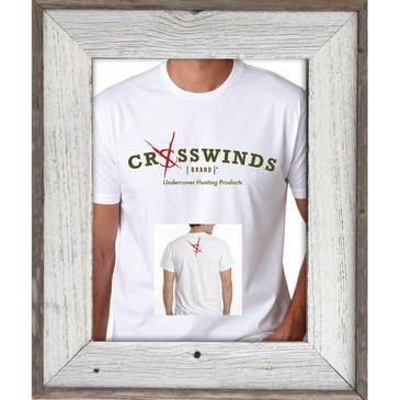 Crosswinds Brand White Short Sleeve T-Shirt