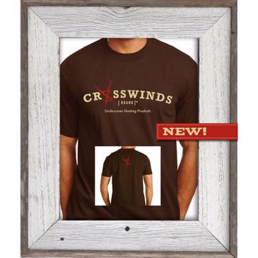 Crosswinds Brand Brown Short Sleeve T-Shirt