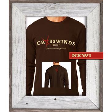 Crosswinds Brand Brown Long Sleeve Shirt