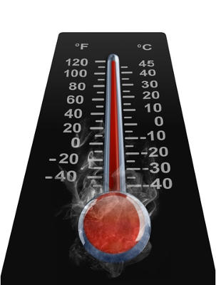 high tempreture on thermometer