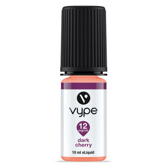 Vype Dark Cherry eliquid 10ml bottle.