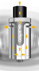Aspire Cleito Exo, Best airflow from a stock tank